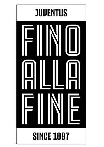 Telo Mare Piscina Ufficiale FC Juventus 100% Cotone Originale Nuovo Modello (Juventus Fino alla Fine, 70 x 140 cm)