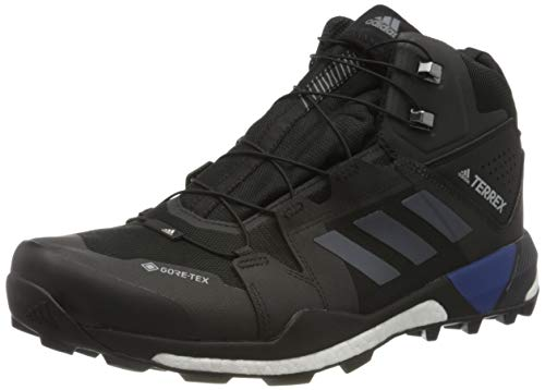 adidas Herren Terrex Skychaser XT Mid GTX Walking Shoe, Core Black/Grey/Collegiate Royal, 45 1/3 EU