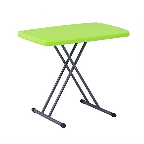 Sdesign Laptop Table Stand Revista Noticias Lectura |Pliegues Compactos Delgados |Mesa pequeña de Altura Ajustable de plástico (Color : Green)