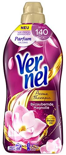 Vernel Aromatherapie Bezaubernde Magnolie, Weichspüler für einen langanhaltenden Duft und traumhaft weiche Wäsche (68 (1x68) Waschladungen)