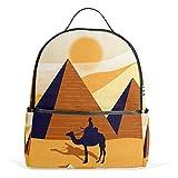 Pyramids Egypt Mochila para mujeres adolescentes y niñas, bolso de moda, bolsa de libros para niños, viajes, universidad, casual, para niños preescolares, regreso a casa, suministros mini