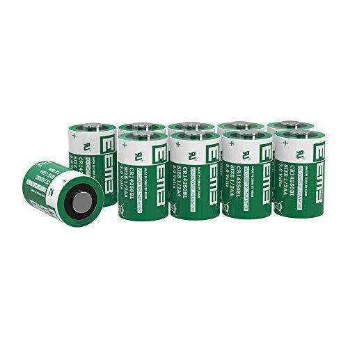 10X EEMB 3V CR 1/2 AA Lithium Batterie CR 14250 900 mAh Li-MnO2 Batteries Nicht wiederaufladbar für Tauchcomputer