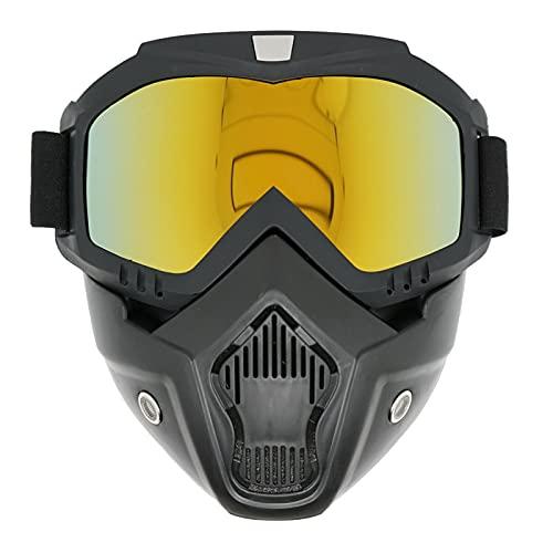 Motocicleta Gafas De Máscara, Extraíbley Con Sistema De Ventilación, Prueba De Viento, A Prueba De Resistente A Impactos, Se Adapta Esquí, Motocross, Equitación (Red lens)