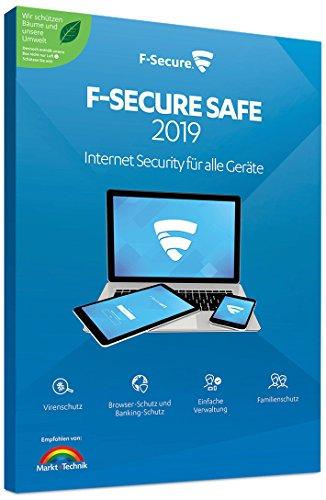 F-Secure SAFE Internet Security 2019 - 1 Jahr / 1 Gerät für Multi Plattform (PC, Mac, Android und iOS)