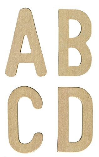 Major Brushes Lot de 26 lettres majuscules en bois