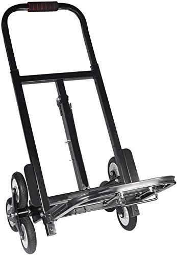 SCJ Carro de Mano Plegable, Carro de Mano para escaleras con 6 Ruedas, Carro Industrial Plegable en Aluminio, Carga máxima 200 KG / 440 LBS