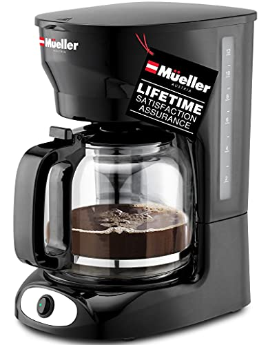 Mueller 12-Cup Drip Coffee Maker, Auto Keep Warm Function, Smart Anti-Drip System, with Durable Permanent Filter and...