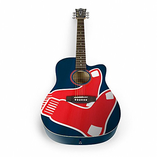 The Sports Vault MLB Boston Red Sox ACMLB04Acoustic Guitar, Multi, One Size