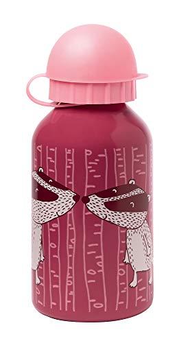 sigikid, Mädchen und Jungen, Edelstahl Trinkflasche, Motiv Dachs, Rosa, 25036