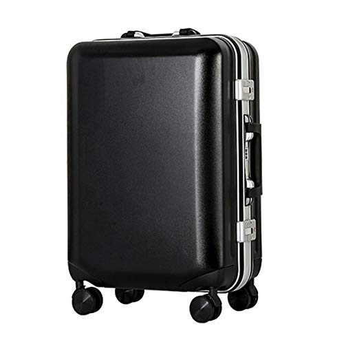 Adlereyire Trolley Suitcase Lightweight Durable Carry On Cabin Hand Luggage Set, Travel Bag with 4 Wheels (Color : Black, Size : 23 * 34 * 56cm)