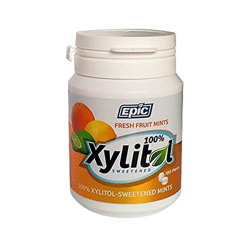 Epic Dental - Xylitol Sucré Bonbons à la menthe Frais Fruit - 180 Menthe(s)