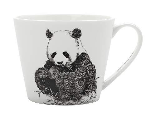 Maxwell & Williams DX0224 Marini Ferlazzo Becher Giant Panda, aus Bone China Porzellan, Schwarz, Weiß, 450 ml, in Geschenkbox