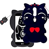 Case for LG Stylo 4/Stylus 4 Plus Cases Q Stylus Cute 3D Cartoon Soft Silicone Shockproof Anti-Bump Protector Lovely Cat Kids Girls Gifts Cover Shell for LG Stylo 4/LG Stylus 4 Plus+/Q Stylus