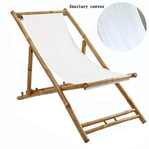 Sedie a dondolo Sedia a Sdraio Portatile reclinabile Cool Sedia Pieghevole da Ufficio Pausa Pranzo Balcone di casa Confortevole Sedia di bambù (Color : Original Bamboo, Size : 90 * 59 * 135cm)