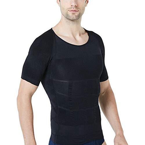 STTLZMC Faja Camiseta Hombre Deportiva Adelgazante Reductora Compresion Elástica de Ropa Interior