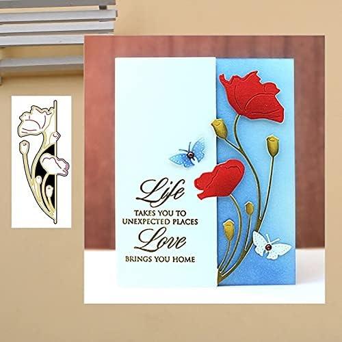 NCQ Popular brand Poppy Flower Metal Cutting Dies Stencils Scrapbook P for DIY Award