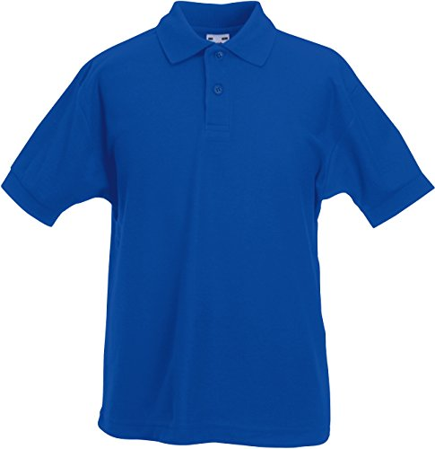 Fruit of the Loom - Polo - Homme - Bleu - Bleu marine - 12 ans