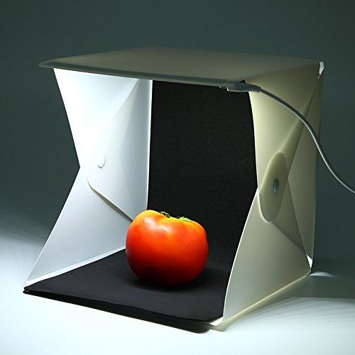 Draagbare opvouwbare lichtbak mini led-lichtpaneel tent fotoshootdoos studiofotografie accessoires witte/zwarte achtergronden voor het fotograferen van sieraden, speelgoed, cosmetica, enz.
