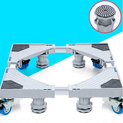 ZhuFengshop Möbel Dolly Roller Movable Base Größe verstellbar mit 4 Rädern und 4 Sperren Starken Füßen, Sockel Teleskop Basis for tragbare Waschmaschine Kühlschrank Waschmaschine Trockner Trockner, Ko