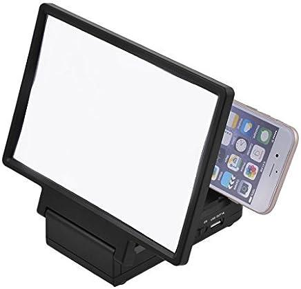eDealMax plegable portátil altavoz incorporado lupa 3D Pantalla de Cine Negro Amplificador HD Para el teléfono
