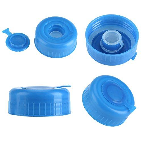 Reemplazo de tapón de Rosca, Tapones de Botella de Agua con Tapa, Tapa de Botella de Agua de galón, 5 Piezas de plástico Azul para Botella de Agua de galón Botella de Agua de 5,5 cm