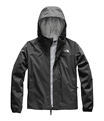 The North Face Girls' Resolve Reflective Jacket, TNF Black, L