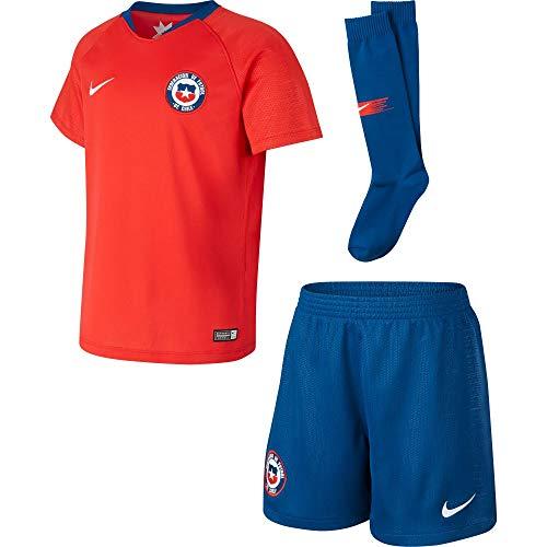 Nike 2018-2019 Chile Home Little Boys Mini Kit 10 Nike Replica Home Jersey