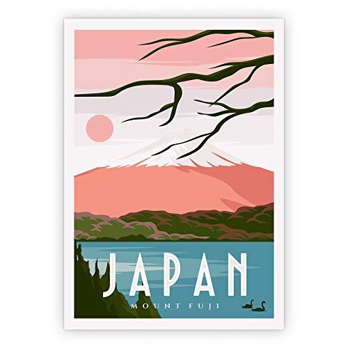 Lazy Days Vintage Poster Japan Bild Wohnzimmer Wandbild Schlafzimmer Deko (A3, Japan)