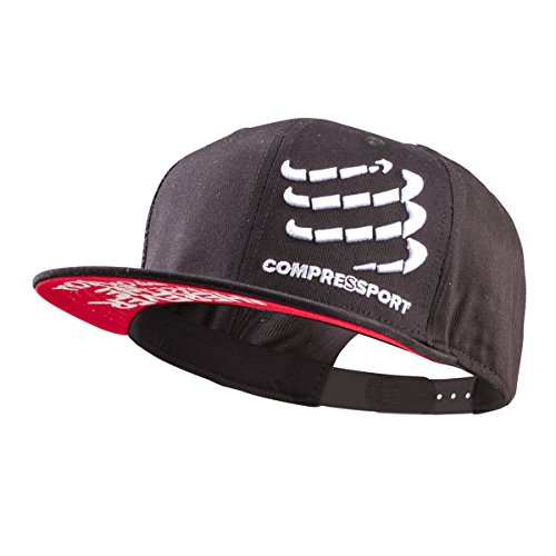 COMPRESSPORT Flat Base cap, Unisex, CS4FLCAP99, Nero, Taglia Unica