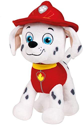 Play by Play Peluche Personaje Marshall - Patrulla Canina - Perro DALMATA Bombero (22CM DE PIE)