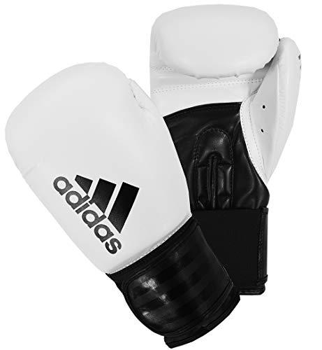 adidas Unisex's Boxing Gloves Men Women Kids Sparring Training Hybrid 100 6oz 8oz 10oz 12oz 14oz 16oz, White, 16 oz