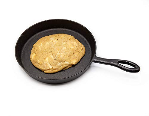 Panookie Gourmet Cast Iron Cookie Skillet for Baking Giant Cookies and Brownies
