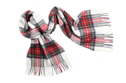 Pure Cashmere Tartan Scarf, Dress Stewart