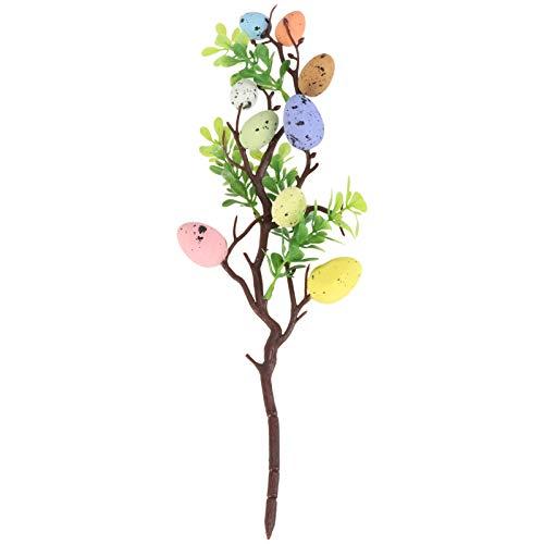 SOIMISS 35CM Ostereier Zweig Künstliche Eier Dekozweige DIY Blumenstrauß Baumschmuck Ostereier Ornamente zum Basteln Blumenarrangement Vase Frühlingsdeko Osterdeko Tischdeko