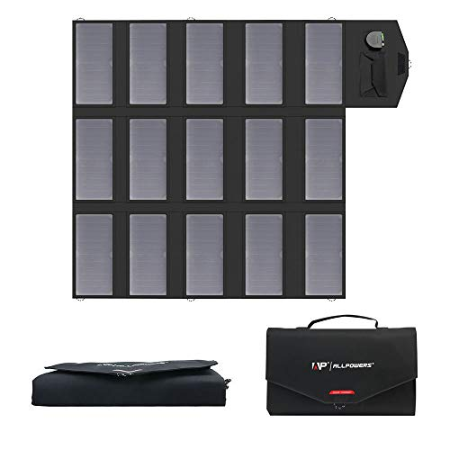 ALLPOWERS 100W Portable Solar Charger Foldable SunPower Solar Panel for Laptop, Portable Generator, 12v Car, Boat, RV Battery, Cellphone, iPhone, Camping, Hiking, Travel