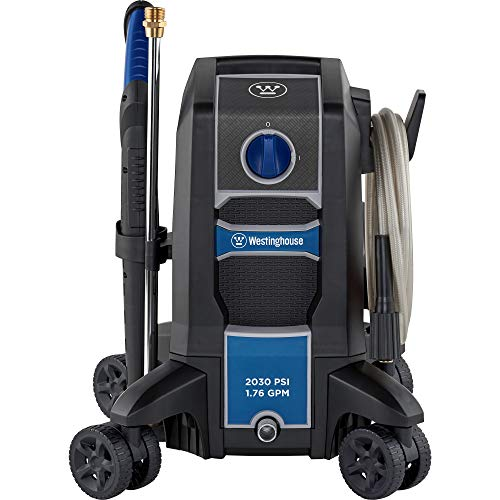 Westinghouse Outdoor Power Equipment Electric Pressure Washer 2030 MAX PSI 1.76 GPM with Anti-Tipping Technology, Soap Tank and 4-Nozzle Set