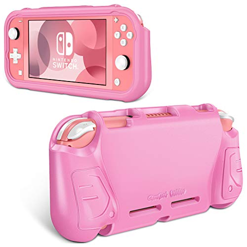 Fintie Case for Nintendo Switch Lite 2019 - Kids Friendly [Ultralight] [Shockproof] Anti-Scratch Protective Cover w/Ergonomic Grip Comfortable Grip Case for Switch Lite Console, Pink