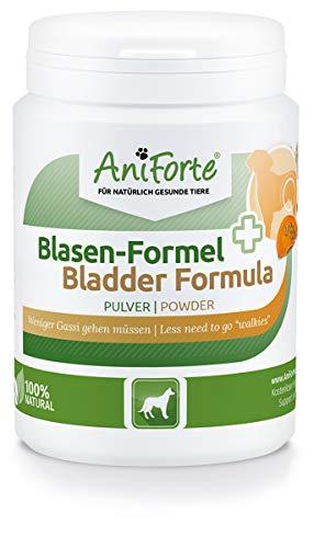AniForte Blasen-Formel für Hunde 100g - Weniger Gassi gehen, Verwendung bei Blasenschwäche, Harnverlust & Urinverlust, Unterstützung der Blasenfunktion, Ergänzungsfuttermittel bei Inkontinez