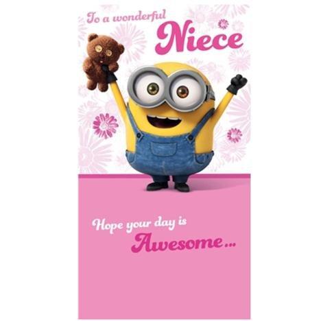 Special Niece Minions Geburtstagskarte