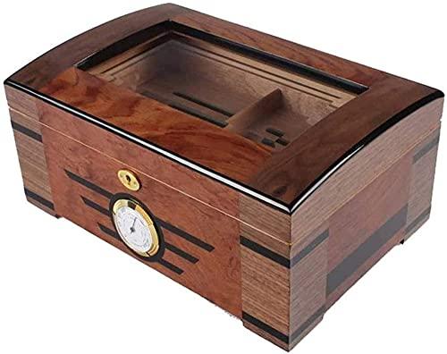 SGSG Caja de Almacenamiento de higrómetro y humidificador - Caja de Puros extraíble portátil Universal Maleta Caja Decorativa