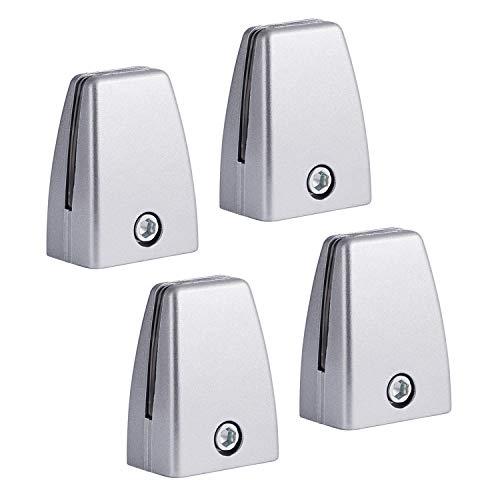Zetek Sneeze Guard Bracket Support 1/8' to 3/8' 4 PCs - (Silver)