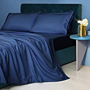 LIANLAM Twin XL Sheet Set - 4 Piece Bed Sheets - Super Soft Brushed Microfiber 1800 Thread Count - Breathable Luxury Sheets Deep Pocket - Wrinkle Free (Navy Blue, Twin XL)