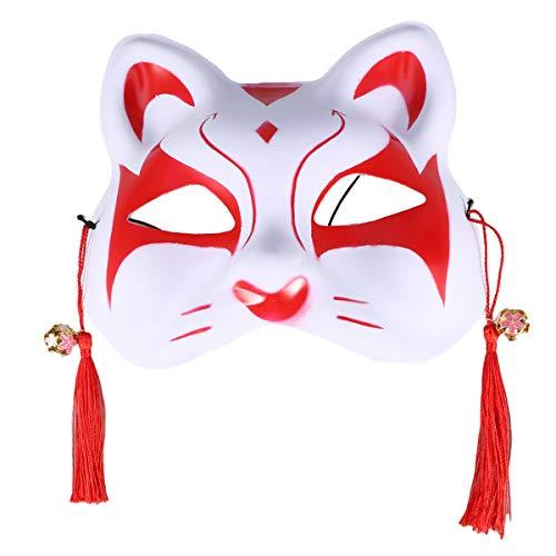 Katzenmaske aus Kunststoff, Partymaske, Anime, Cosplay, Requisiten, Partyzubehör