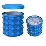 Aeromdale Ice Cube Maker Doble uso Ice Cube Maker Revolucionario Ahorre Space Cubes Round para enfriar, whisky, cócteles, bebidas y bebidas