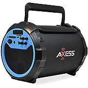 AXESS 2.1 Indoor/Outdoor Bluetooth Karaoke/Speaker with Wired Microphone