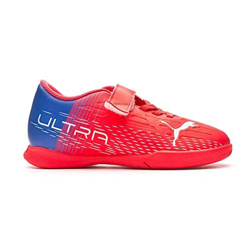 Puma Ultra 4.3 IT V Jr, Zapatillas de fútbol Sala, Sunblaze Whi, 34 EU