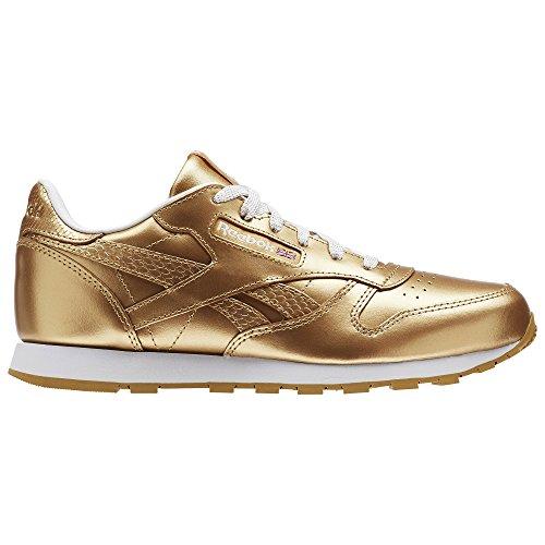 Reebok Classic Leather Metallic, Zapatillas de Running para Mujer, Dorado (RBK Brass/White), 38 EU