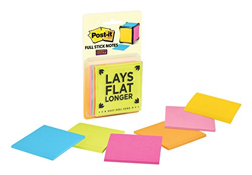 Post-it Notes Refill Sticky Note Pad, Assorted Brights, 3' x 3' (F330-6CUBERFIL)