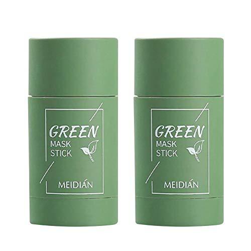 Masque en bâton purifiant au thé vert, Green Tea Purifying Clay Stick Mask, Blackhead Remover Masque, amélioration de lhydratation de la peau, Hydrate et Protège pour une Peau Douce et Éclatante