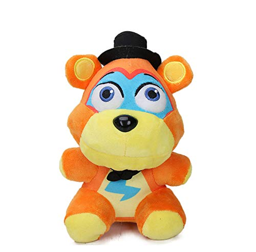 WPQL Pesadilla Freddy Bear, Juguete de Peluche de Terror, muñecos de Peluche Suave, decoración de la habitación de Navidad de Pascua, 25 cm